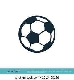 Football, Soccer Ball Icon Vector Logo Template Illustration Design. Vector EPS 10.