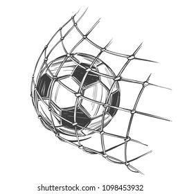 football, soccer ball, sports game, emblem sign, hand drawn vector illustration sketch