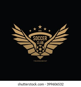 Football and soccer college vector logo template