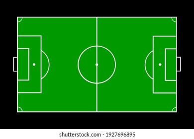 Football soccer field vector illustration.
