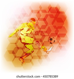 Football soccer flyer
