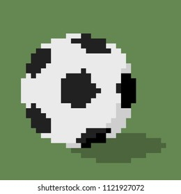 Football soccer, icon in 8 bit style