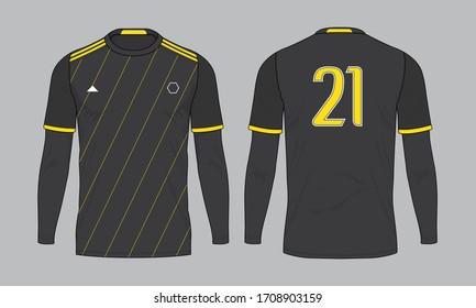 Football soccer jersey design template set vector