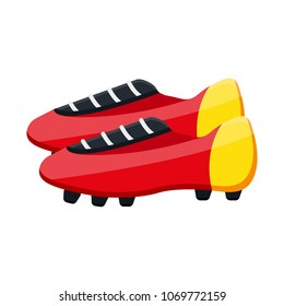 4613fda07 Soccer boots label - vector illustration. Football soccer leather red  yellow boots TF Turf, IC IN Indoor Competition, FG Firm