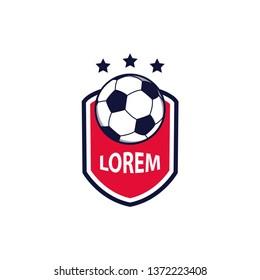 Football and soccer logo design template