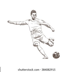 Football Sketch Images Stock Photos Vectors Shutterstock