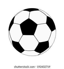Football Soccer schematic ball, Vector illustration.