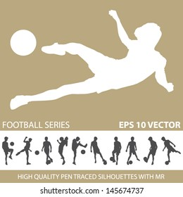 football soccer silhouettes vector