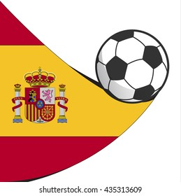 football soccer spain abstract design vector icon isolated on white background