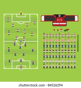 Football Soccer strategy management player Collection Set