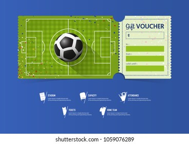 Father's day soccer ticket gift voucher | printable soccer ticket.