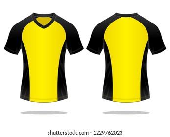 Football Sport Shirt Design Vector  (Yellow/Black)