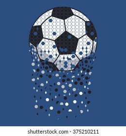 Football sport typography, t-shirt graphics, vectors