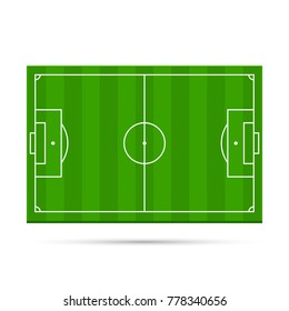 Football stadium game 3d object area. Vector illustration