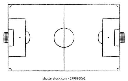 football pitch sketch images stock photos vectors shutterstock https www shutterstock com image vector football stadium soccer field sport drawing 299896061