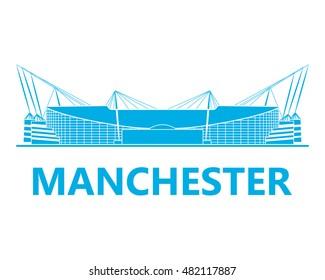 Football stadiums. Manchester. England.