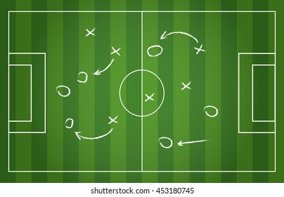 Football strategy signs vector illustration eps 10