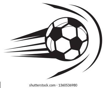 Football strike on Goal Post - Illustration Icon as EPS 10 File