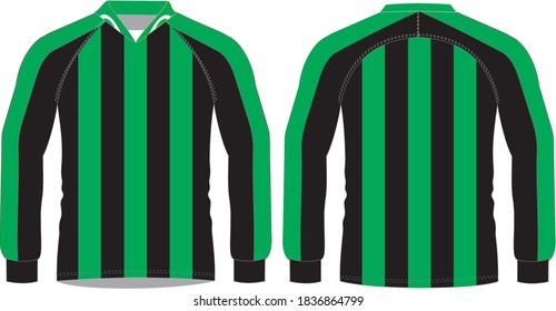 Football Sublimated Shirts full sleeve Mock ups Illustrations templates
