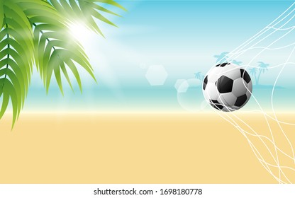 football with sunlight on the beach in the day time