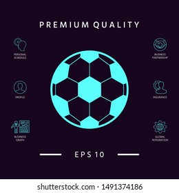 Football symbol. Soccer Ball Icon. Graphic elements for your design
