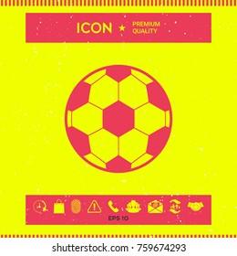 Football symbol. Soccer Ball Icon