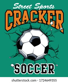 football t shirt print.  boys soccer graphic tees vector illustration design and other uses