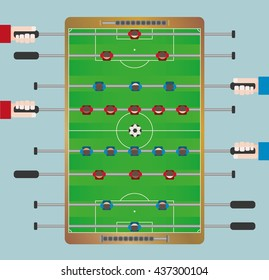 Football Table Game from top