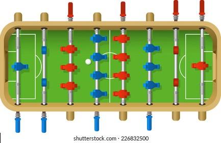 Football Table vector illustration. Table top game, kicker, bar football, table soccer,