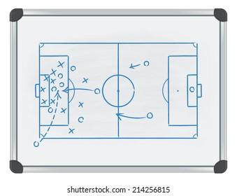 football tactic on whiteboard