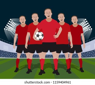 A football team design, vector illustration.