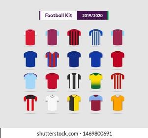 football team kit 2019/2020 vector illustration