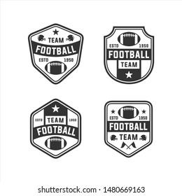 Football Team Set Vector Logos
