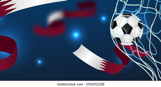 Football Tournament, Football Cup, Background Design Template, Vector Illustration, 2022