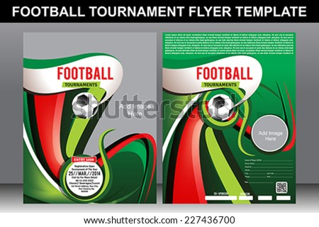 football tournament flyer template vector illustration stock vector