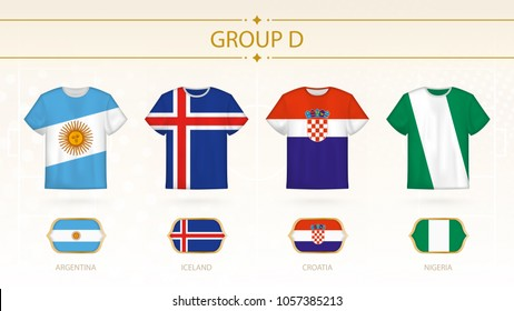 1f1926e6c2e Soccer Cup 2018 Team Group D Stock Vector (Royalty Free) 1044745840 ...