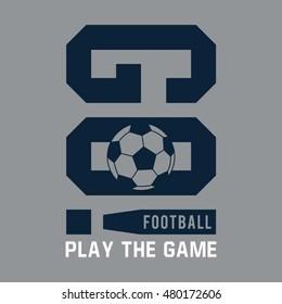 Football typography, t-shirt graphics, vectors