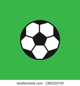 Football vector icon green background