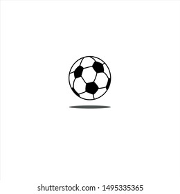 Football vector icon with shadow, soccerball.