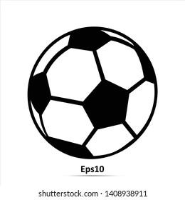 Football vector icon, soccerball. Eps10