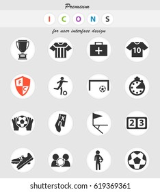 football vector icons for user interface design