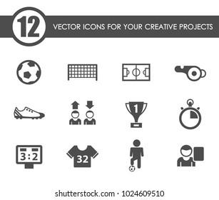 football vector icons for your creative ideas