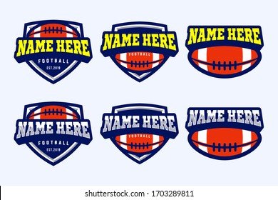 Football Vector Templates Logo Design