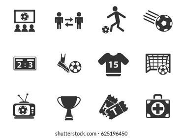 football web icons for user interface design