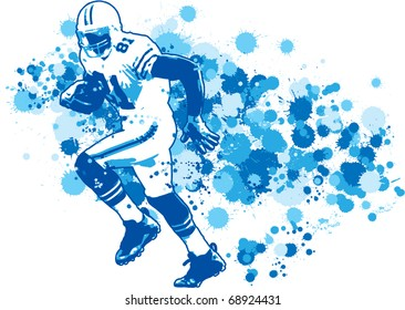 Football Wide Receiver Illustration