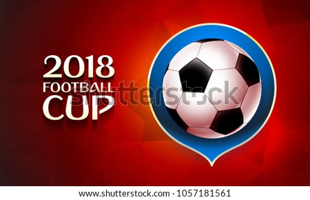 Football World Cup 2018 Wallpaper Color Stock Vector Royalty Free
