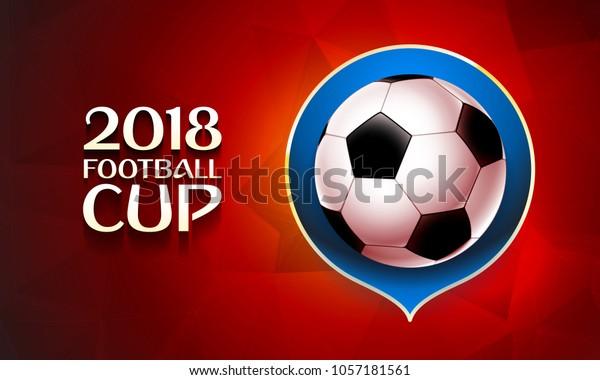 Vector De Stock Libre De Regalías Sobre Football World Cup