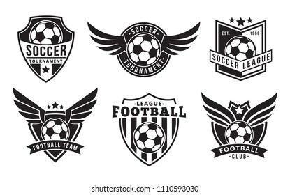 Football/Soccer Badges with Wings