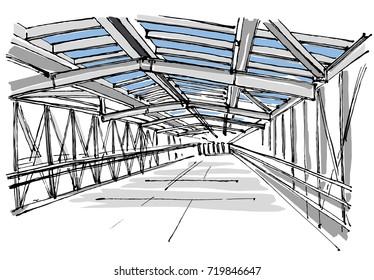 Footbridge sketch