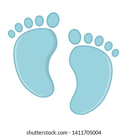 footmark icon cartoon vector illustration
